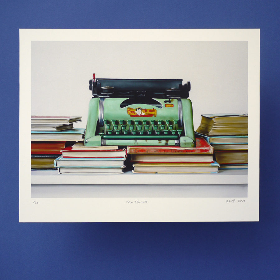 Tom Thumb Typewriter Print by Christopher Stott