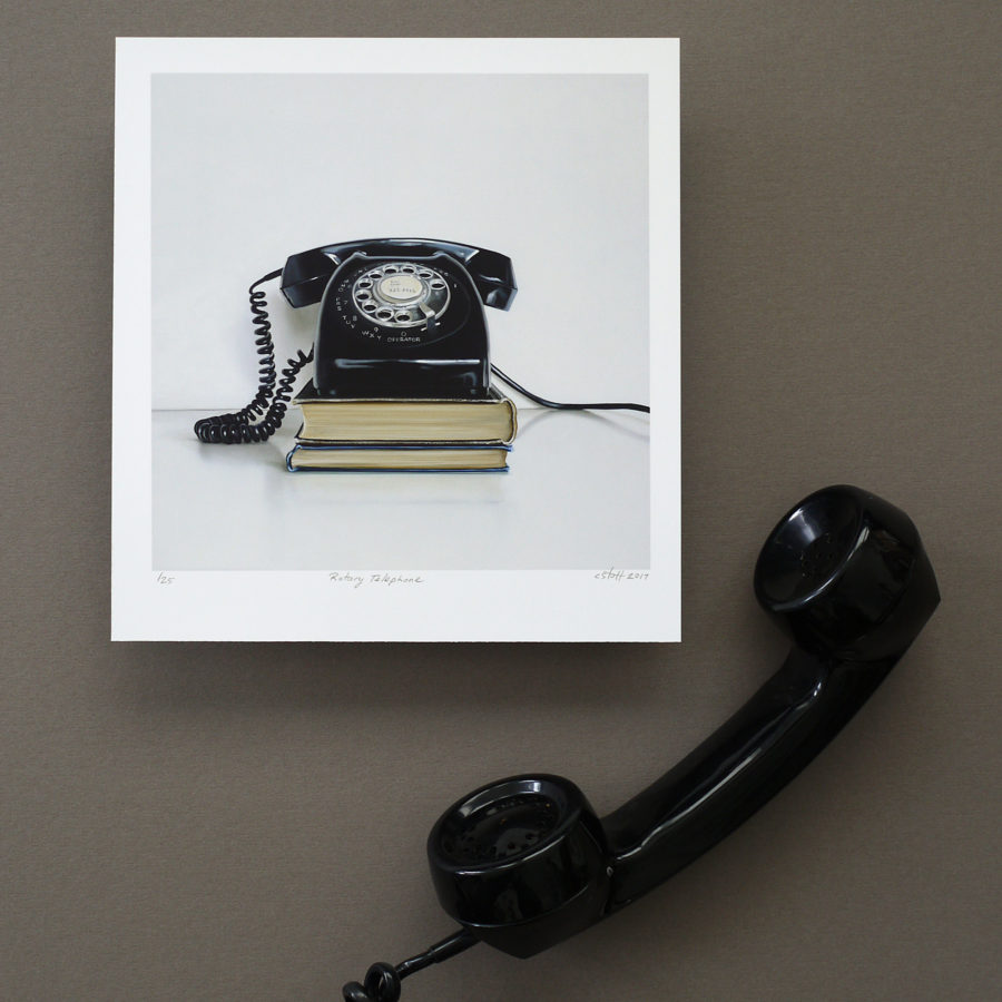 Rotary Telephone Print by Christopher Stott