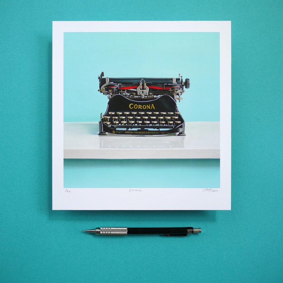 Corona No. 3 Typewriter Print by Christopher Stott